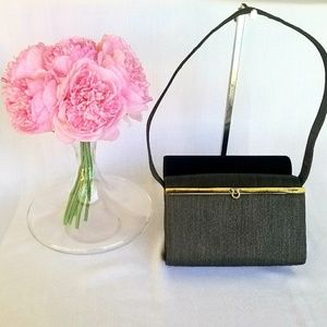 EUC Vintage Salvatore Ferragamo Canvas Handbag